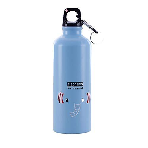 Lindames 500ml de dibujos animados patrón animal aleación de aluminio termo taza botella de agua de viaje vasos aislados