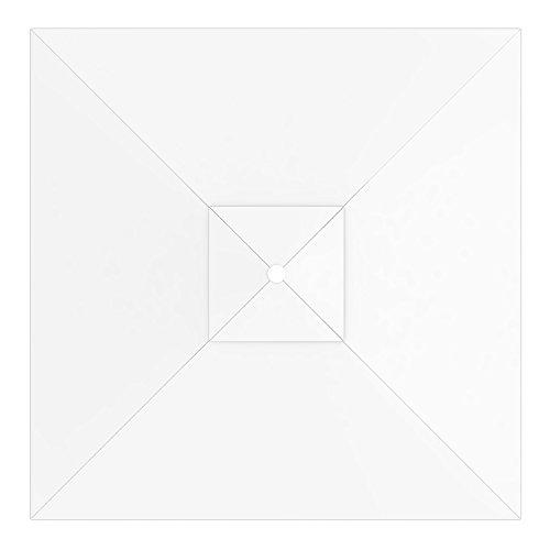 Paramondo telo di ricambio incl. air vent per ombrellone da giardino interpara (3 x 3 m/quadrato), bianco
