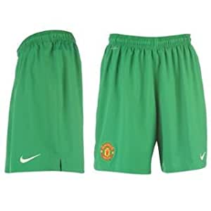 2012-13 Man Utd Nike Home GK Shorts (Green) - Kids