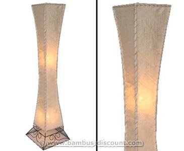 """Stehlampen \""""Siam\"""" aus Naturmaterial, Höhe 118cm - Thai Deko Lampe - Asiatische Lampen Stehlampe, Stehleuchte, Tischlampe, Wandleuchte, Deckenlampe, Lampenschirm"""