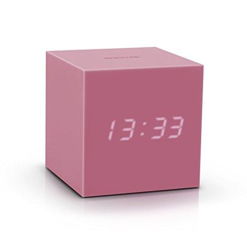 Gravity Cube Click Clock - PINK by Gingko Electronics