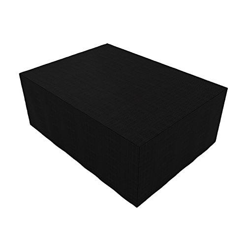 Bâche rectangulaire imperméable et résistante pour table et chaises de terrasse 280*206*108
