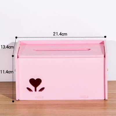 Preisvergleich Produktbild Tian yi Speicher-Organisations-kosmetischer Make-uporganisator PVC-Schaum-Brett-Rechteck-Form kreativ / staubdicht / Neuheit (Color : Pink)