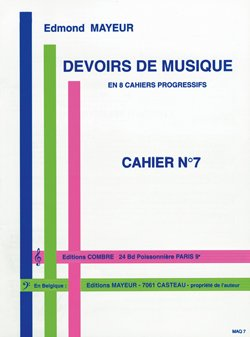 Devoirs de Musique Cahier 7 --- Formation Musicale