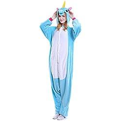 Pijamas de UnaPieza - Youson Girl® (XL: Altura (69.7inch-72.8inch / los 177cm-185cm), Azul)