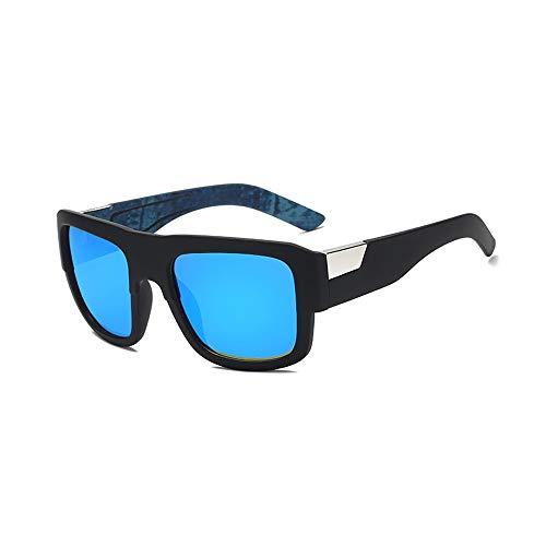 L.Z.H.Brillen Gläser Sonnenbrille Polarisierte Linse Teardrop Herren Sonnenbrille Klassisches Design UV Cut Wandern Bergsteigen Angeln Golf Outdoor Sports (Color : Blau, Size : Kostenlos)