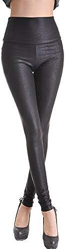 Rubberfashion Glanz Leggings, glänzende Leggin mit Schlangen Muster Look Optik bis zur Hüfte für Frauen und Mädchen...