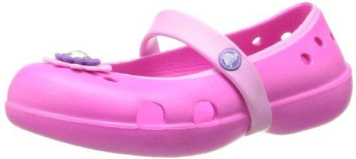 crocsKeeleyPetalFlat - Ballerine Bambina , rosa (Pink (Neon Magenta/Carnation)), 24/25 EU