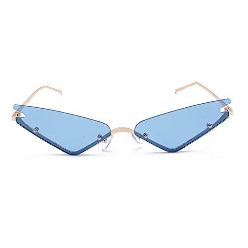 Makefortune 2021 Damen Männer Brille,Unisex mode kleine rahmen sonnenbrille vintage retro unregelmäßige form sonnenbrille Cat Eye Sonnenbrille aus Metall