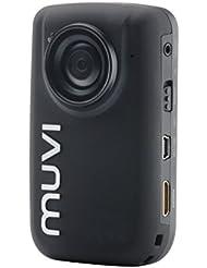 """Veho VCC-005-muvi-HD10 Mini caméscope à carte SD / HD 1080 pixels Écran 3,8 cm (1,5"""") / Télécommande / Objectif grand angle / Mémoire interne Micro SD 4 Go Noir"""