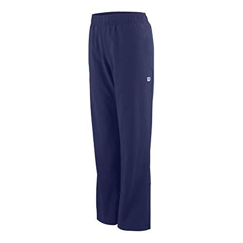 Wilson Jungen/Mädchen Trainingsjacke, Y Team Woven Warmup, Polyester, Blau/Weiß, Größe: M, WRA767503 -