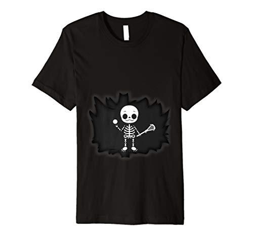 (Baby Lacrosse Skelett T-Shirt Schwangere Mom)