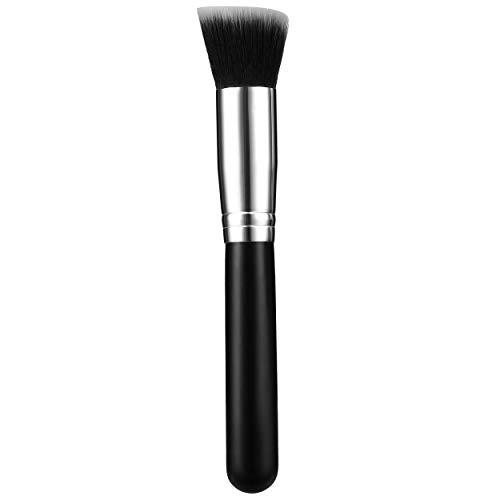 Lofenlli Pinceaux de maquillage multifonctionnels Pro Correcteur de poudre Blush Fond de teint liquide pour maquillage Ensemble de pinceaux en bois Pinceau Kabuki Cosmétiques