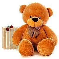 ATIF Soft Toys Long Soft Lovable Huggable Cute Giant Life Size Teddy Bear 3 Feet 90 cm Brown/and Wife/BOY Girl/ Gift…