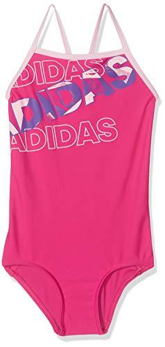 adidas Mädchen Lineage Badeanzug, Real Magenta, 164 (Mädchen Adidas Badeanzug)