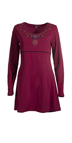 Coline - Robe manches longues Framboise