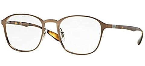 Ray Ban Optical Montures de lunettes RX6357 - 2877: Brushed Light Brown - 51mm