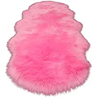 CoURTerzsl Stuhlabdeckung Terzsl Ultra Soft Seidige Flauschige Teppichboden Wohnzimmer Schlafzimmer Kinderzimmer Bodenmatte Kissen - Rosa