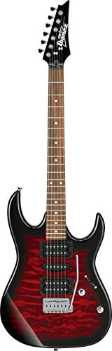 Ibanez GRX70QA-TRB E-Gitarre, Rot (Transparent Red Burst)