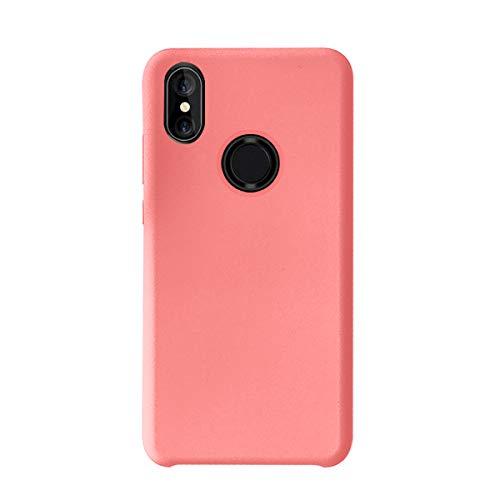 Funda Xiaomi Mi Mix 2S Teléfono Móvil Silicona Bumper Case y Flexible Resistente Ultra Slim Anti-Rasguño Protectora Caso para Xiaomi Mix 2 (Light Red, Xiaomi Mi Mix 2S)