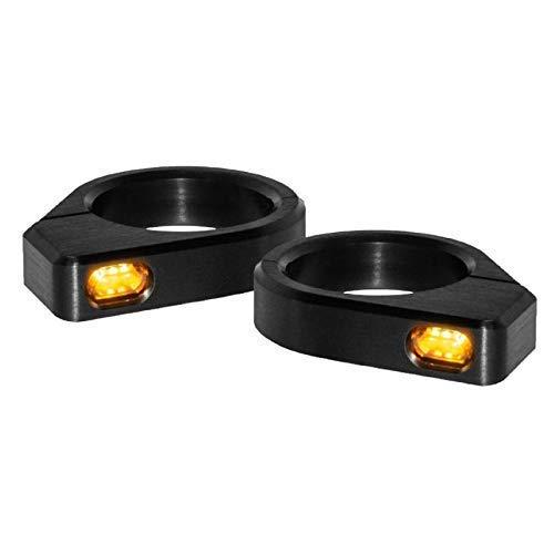 Blinker Motorrad LED Micro Festsetzung Gabel DIAM-54 mm - 56 mm Schwarz -