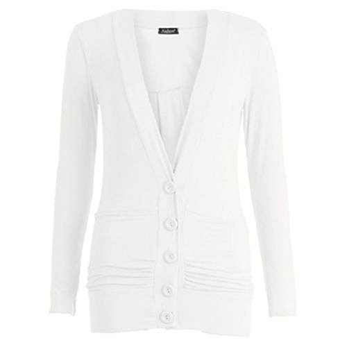 RIDDLEDWITHSTYLE -  Maglia a manica lunga  - Donna White