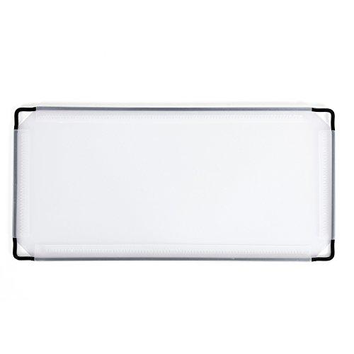 Songmics 16 x Placa de plástico Lámina de PP Accesorio para armario modular Semitraslúcido Blanco 35,5 x 17 cm ALPC02-16