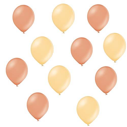 ftballons in Rose Gold / Peach Pfirsich - Made in EU - 100% Naturlatex somit 100% giftfrei und 100% biologisch abbaubar - Geburtstag Party Hochzeit - für Helium geeignet ()