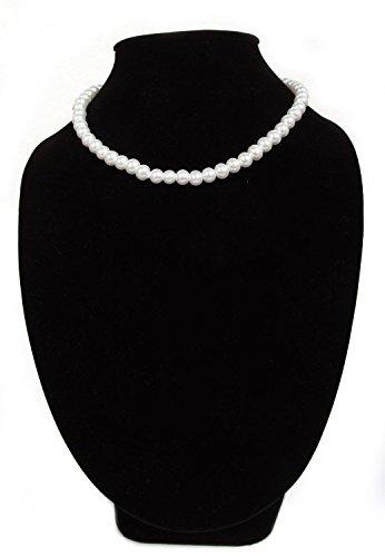 FreshGadgetz Set de 1 Hermoso collar largo de perlas de imitación de nácar para mujeres