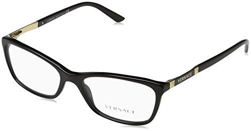 Versace Für Frau 3186 Black Kunststoffgestell Brillen, 52mm