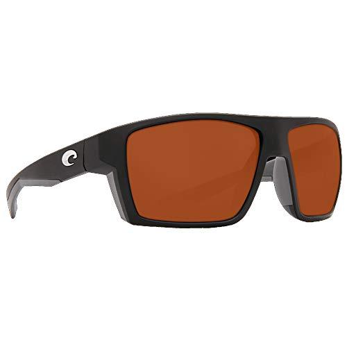 Neue Costa del Mar BLK124OCP Herren Schwarzer Rahmen Braun Linse Wrap Sonnenbrille