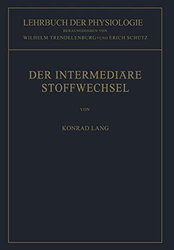 Forschung Aminosäure (Der Intermediäre Stoffwechsel (Lehrbuch der Physiologie))