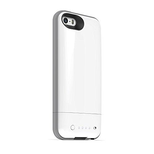 mophie Juice Pack Plus Schutzhülle mit integriertem Akku (2100mAh) für iPhone 5/5s – Rot weiß