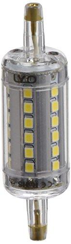 LYO Bombilla Lineal LED con Luz Fría, R7s, 5 watts, Gris y Blanco, 2.2 x 2.2 x 7.8 cm