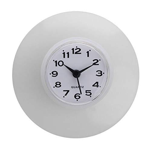 wiFndTu Despertador, Cocina Impermeable Baño Ducha Reloj de Pared Ventosa Nevera Decoración...