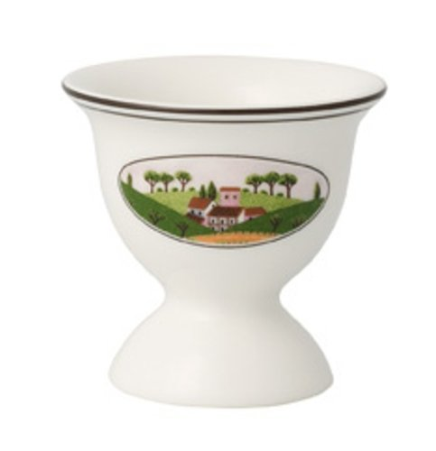 Villeroy & Boch Charm & Breakfast Design Naif Eierbecher, 6 cm, Premium Porzellan, Weiß/Bunt -