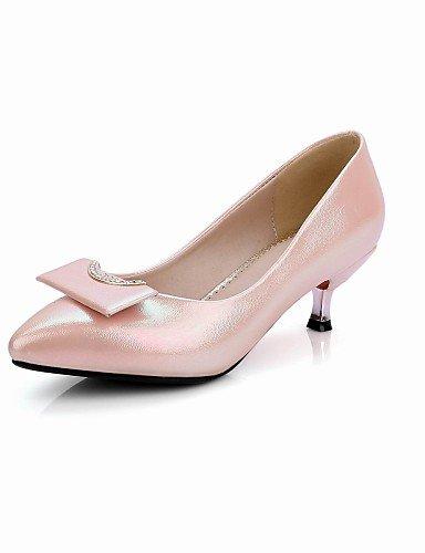 ZQ gyht Scarpe Donna - Scarpe col tacco - Tempo libero / Ufficio e lavoro / Serata e festa - Tacchi / A punta / Stivali - Basso - Finta pelle - , pink-us8 / eu39 / uk6 / cn39 , pink-us8 / eu39 / uk6 / green-us5 / eu35 / uk3 / cn34