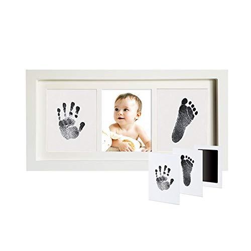 FUNXS Baby Handprint und Footprint Photo Frame Kit für Neugeborene Jungen und Mädchen, Papier und Clean Touch Ink Pad zur Erstellung von Babyabdrücken - Ink-pad-kit