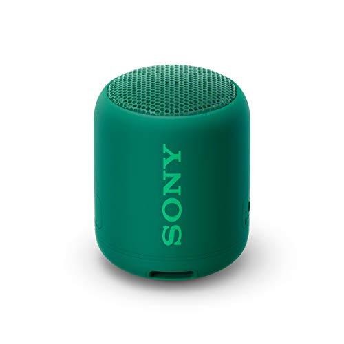 Sony SRS-XB12 Bluetooth Lautsprecher (tragbar, kabellos, NFC, Extra Bass, wasserabweisend) grün