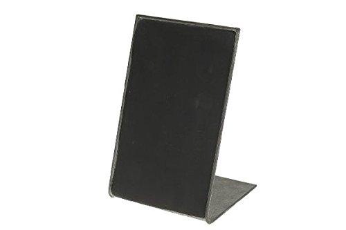 Tafel zum Stellen / Metall / schwarz / 13x10x19 cm