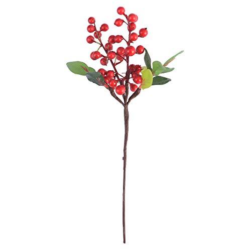 Toyvian Künstliche Beerenblume Gefälschte Beeren Für Zuhause Schreibtisch Büro Dekoration (Rot)