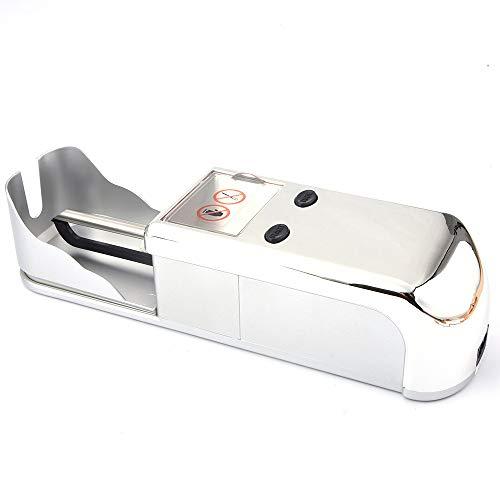 HJJH Elektrische Zigaretten-Walzmaschine, DIY-Zigaretten-Minitabak-Injektor-Hersteller-Rolle, Spritzen-Maschinen-Automatische Tabak-Rollen-Maschine, Regelmäßige Gefäße,Silber