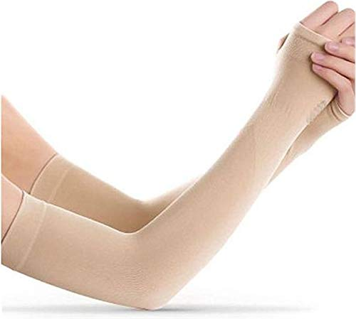 AdroitZ UV Protection Cooling Arm Sleeves (Beige, Set of 2)