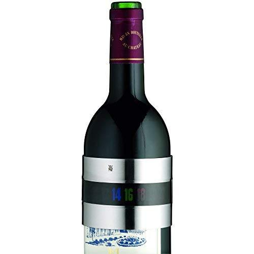 WMF Clever&More Weinthermometer analog, Cromargan Edelstahl, für Rotwein Weißwein Rosé Sekt Champagner