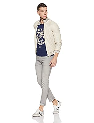 V Dot Men's Printed Slim Fit T-Shirt