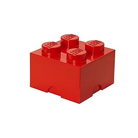Room Copenhagen RC40031730 Lego Boîte de Rangement 4 Briques Plastique Rouge 45 x 35 x 25 cm