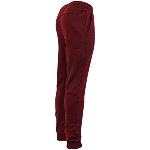 Just Hype Herren Jeanshose, Einfarbig rot rot burgunderfarben