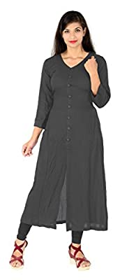 Vaidehi Creation Women Long Sleeve V-neck Full Stitch Long Dress (Color: Grey)