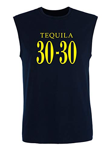 T-Shirt Mann armellos Blau Navy FUN0471 Tequila