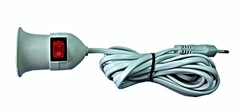ProDigital de lampe E27 Adaptateur avec interrupteur-Rallonge de Douille pour Ampoule E27 220 V avec Interrupteur